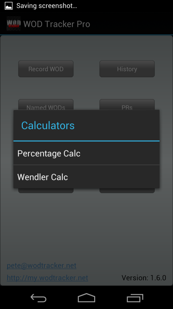 New in v1.6 is a Wendler caclulator