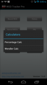 Button Menu Calculator options
