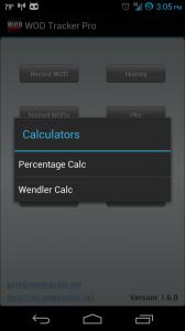 Button Menu Calculator options