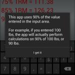 Wendler calculator explanation
